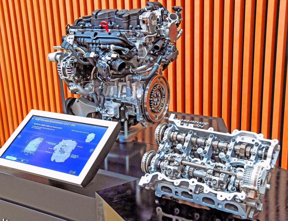 CVVD 기술이 적용된 스마트스트림 G1.6 T-GDi엔진과 CVVD 시스템
